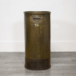 Industrial Vulcanized Fiber Tall Waste Basket c.1910