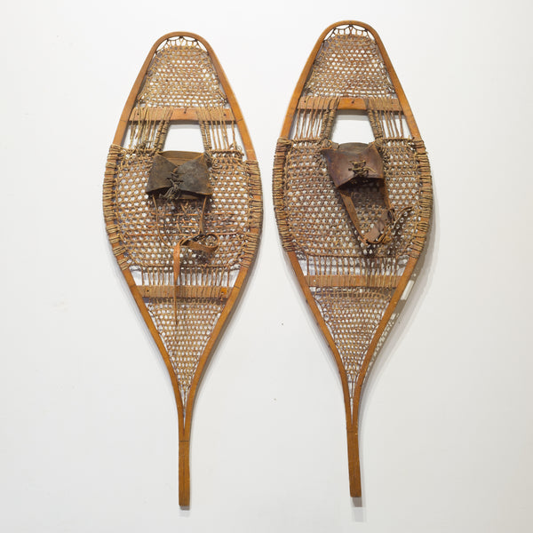 Antique Wood and Leather Snow Shoes c.1920