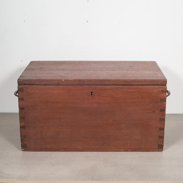 Large Handmade Wood and Brass Box c.1880-1920