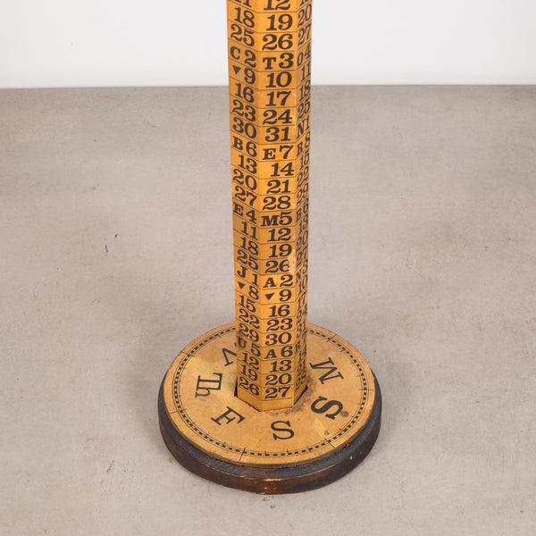 Upright Continuous Calendar by EB Arnett c.1969