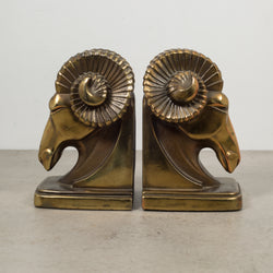 Art Deco Ram's Head Bookends c.1930