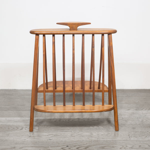 Mid-century Umanoff Walnut Record Holder/Magazine Rack c.1960
