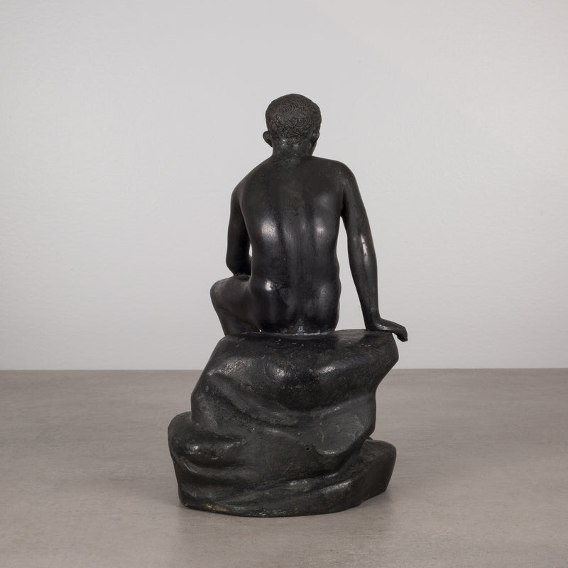 "Bronze and Copper Sculpture of ""Seated Hermes"" c.1920"