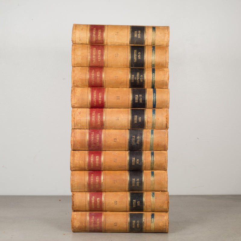 Leather Bound California Supreme Court Books c.1872-1914