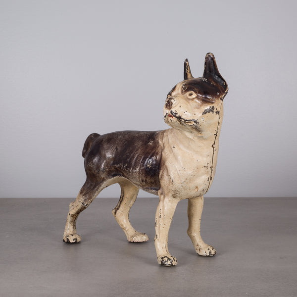 Cast Iron Boston Terrier Doorstop in the Style of Hubley c.1940