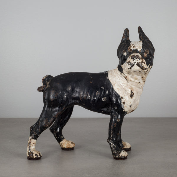 Cast Iron Boston Terrier Doorstop by Hubley c.1910