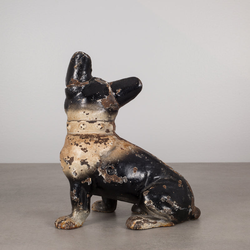 Cast Iron French Bulldog Doorstop by Hubley c.1910