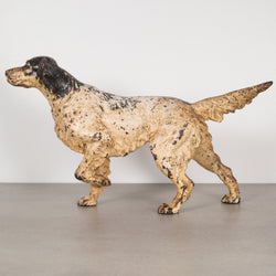 Cast Iron Pointer Dog Doorstop by Hubley c.1910-1940