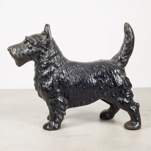Cast Iron Scottish Terrier Doorstop by Hubley c.1910-1940
