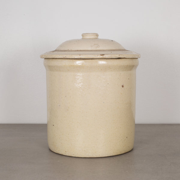 Ceramic PIckling Crock Unmarked with Lid c.1910