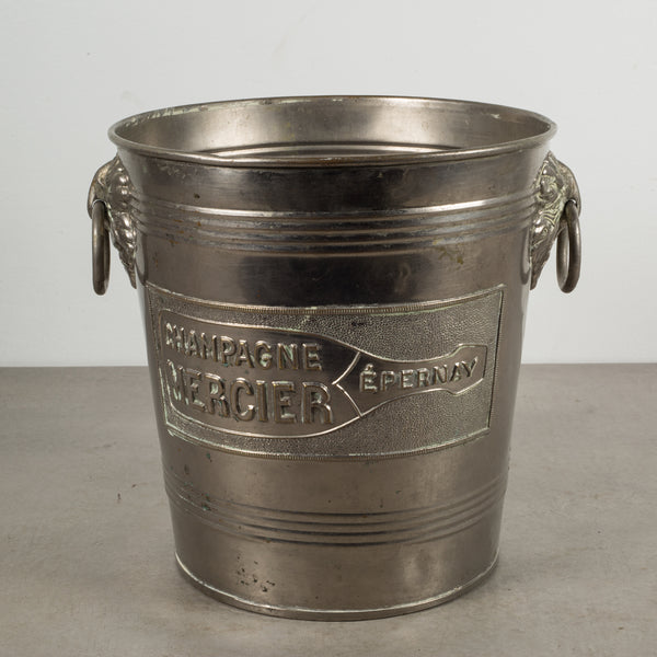 Art Deco Embossed Champagne Advertising Ice Bucket c.1930