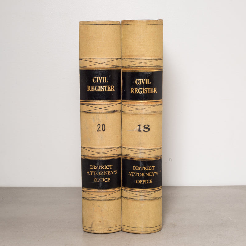 Pair of Monumental Civil Register Books c.1960