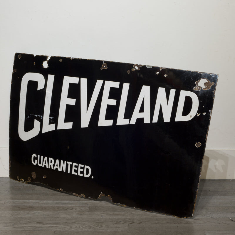 Cleveland Guaranteed Enameled Sign c.1920