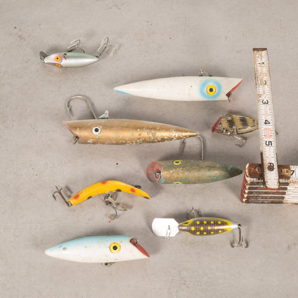 Collection of Painted Wooden Fishing Lures c.1940