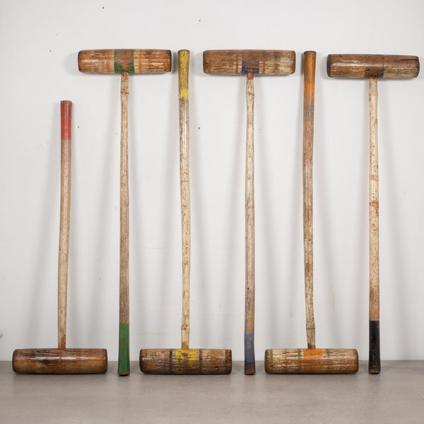 Early 20th c. Wooden Croquet Set c.1940