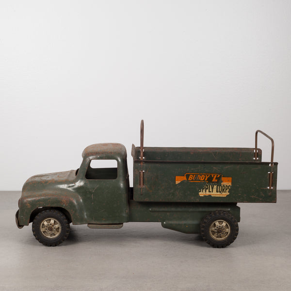 "Die Cast Steel Toy Truck ""Buddy L Army Supply Corps"" c.1940"