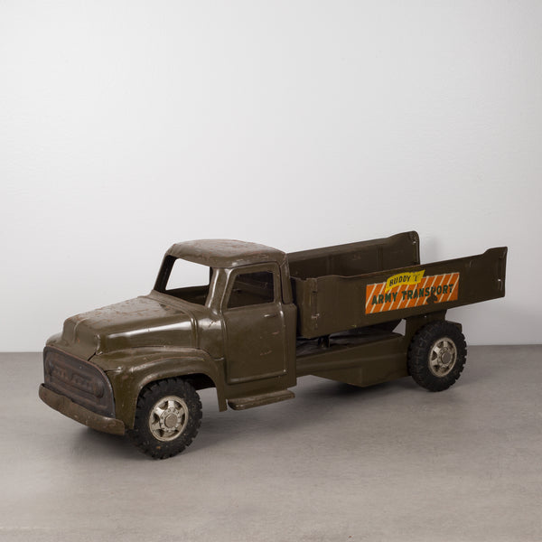 "Die Cast Steel Toy Truck ""Buddy L Army Transport"" c.1940"