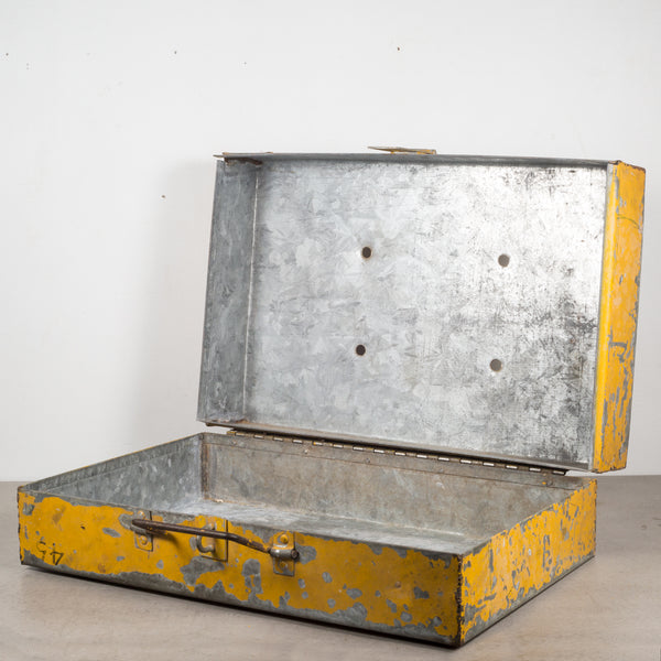 Distressed Metal Tool Box c.1940