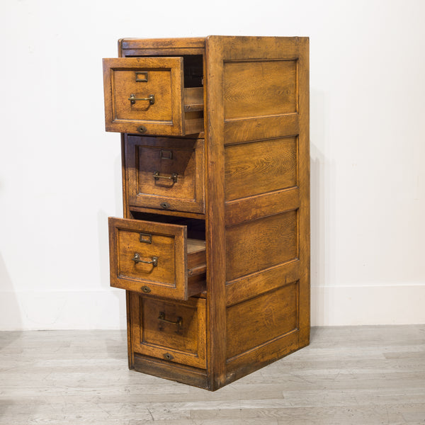 4 Drawer Oak File Cabinet c.1930