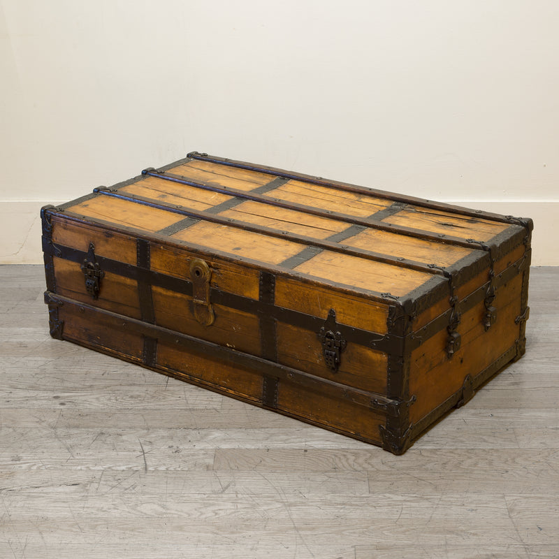 Distressed Antique Cabin Trunk c.1900