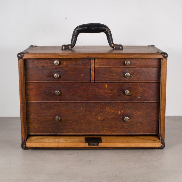 Antique Eight Drawer Oak Machinist's Chest c.1940