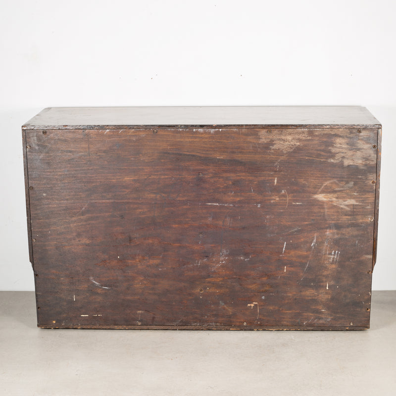 Antique Wood and Brass Watchmaker's Chest c.1900