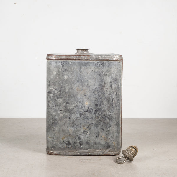 Antique Galvanized Steel Canteen c.1906-1908-Decorative only