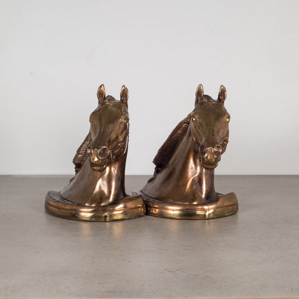 Bronze Plated Horse Head Bookends by Glady's Brown and Dodge c.1930