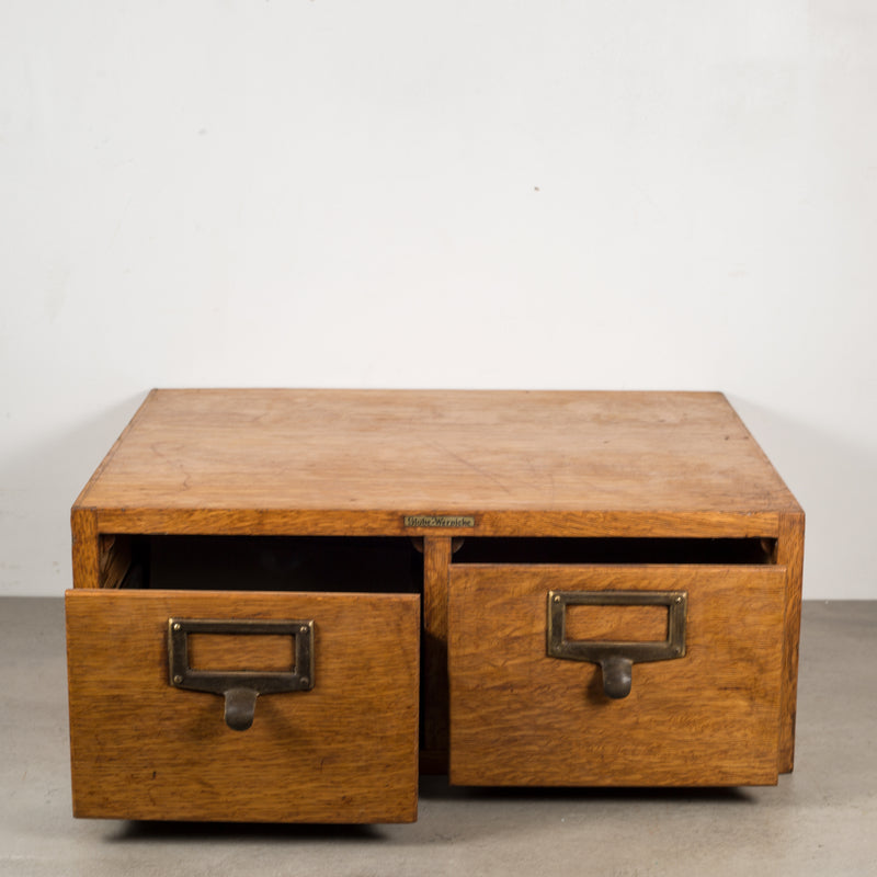 Oak and Brass Globe Wernicke Card Catalog c.1940