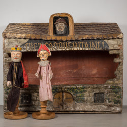 Hand Made French Puppet Theater c.1940