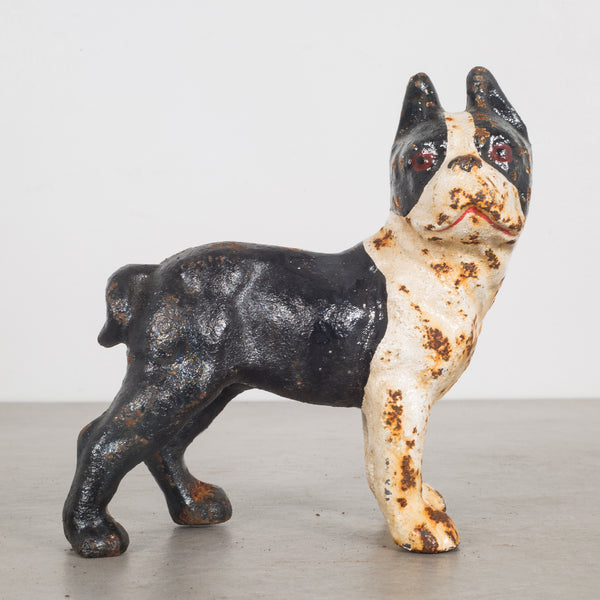 Cast Iron Hubley Boston Terrier Coin Bank c.1910