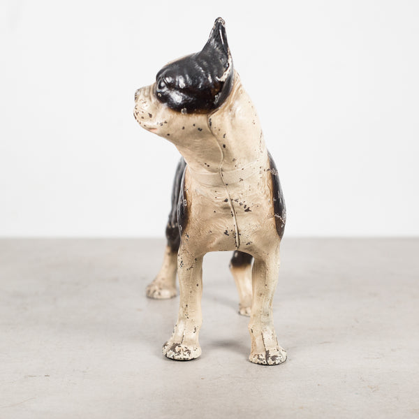 Early 20th c. Cast Iron Boston Terrier Doorstop by Hubley c.1910-1940