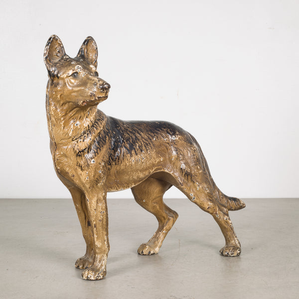 Cast Iron German Shepherd Doorstop by Hubley c.1910-1940