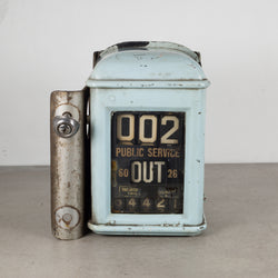 Antique Steel Trolley Fare Box c.1920-1940