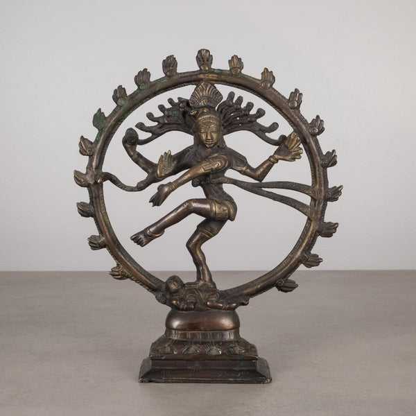 "Bronze Hindu 8.5"" Shiva as Lord of the Dance Sculpture c.1930"