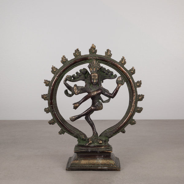 "Bronze Hindu Shiva as Lord of the Dance Sculpture 7"" c.1930"