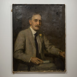 """Dr. Fowler"" Oil on Canvas Portrait by S. Seymour Thomas c.1900"