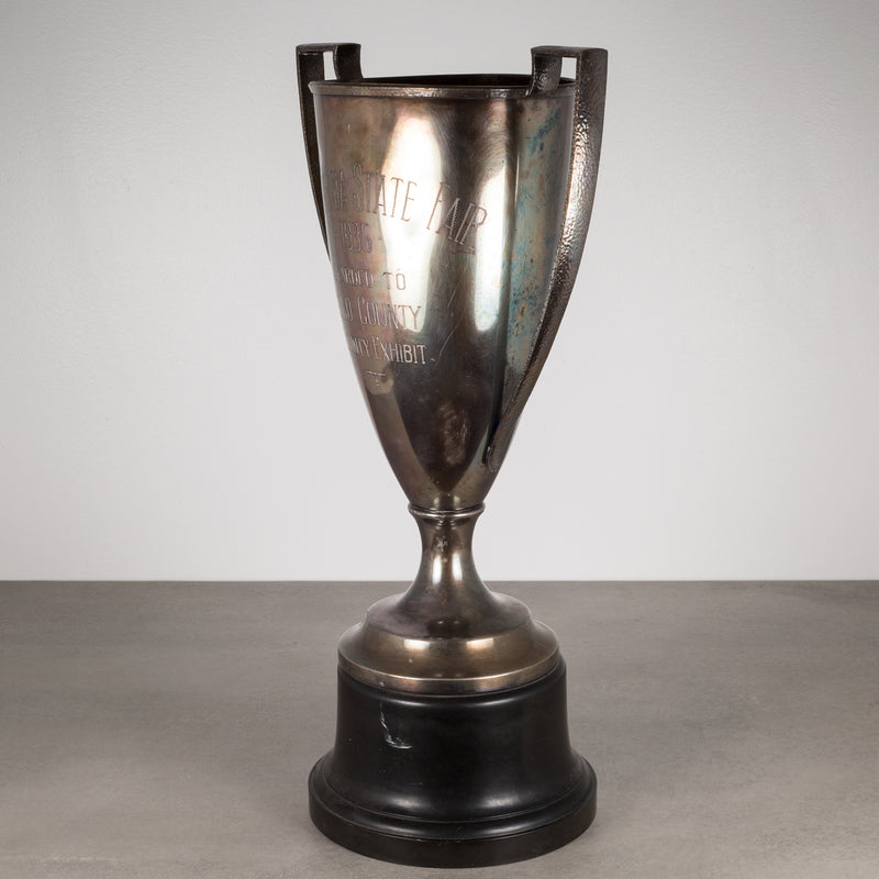 "Silver Plated Trophy Cup ""California State Fair"" c. 1936"