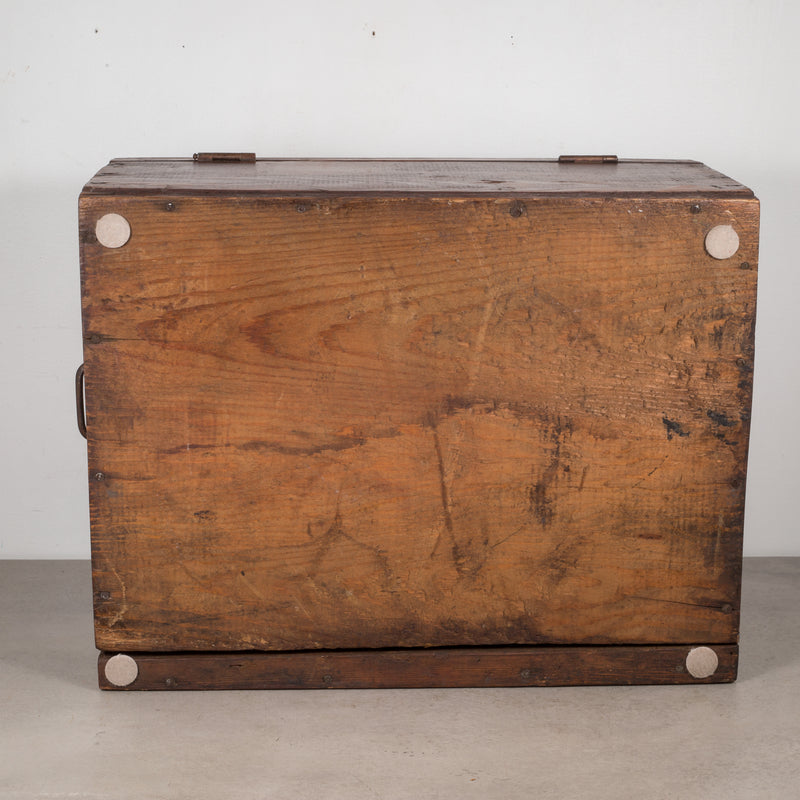 Large Handmade Wooden Shoe Factory Tool Box c.1940