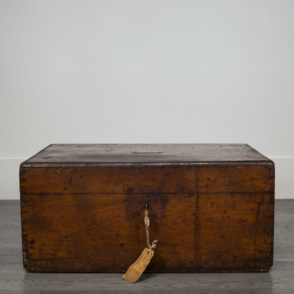 Mahogany and Brass Silverware Chest from Pennsylvania c.1868