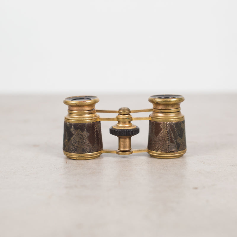 19th c. French Brass and Leather Binoculars c.1880