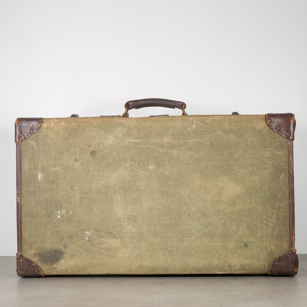 Leather/Canvas English Suitcase c.1944