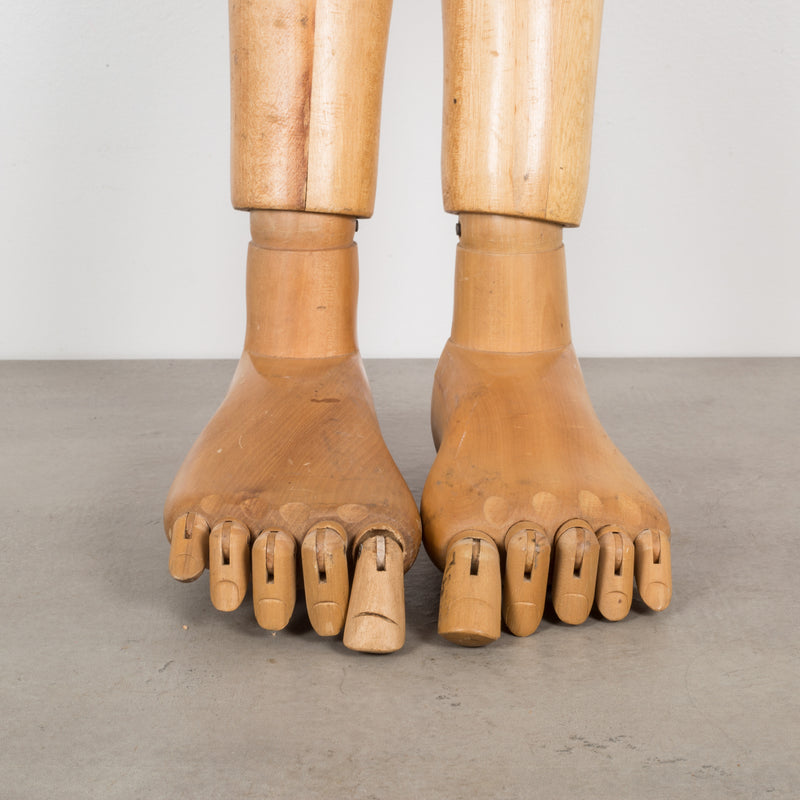 Articulating Mannequin Feet and Legs c.1940