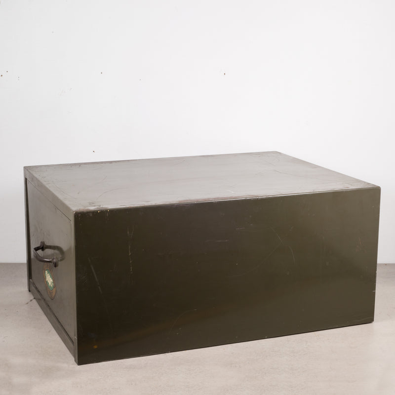 Industrial Army Green Factory Cabinet c.1940