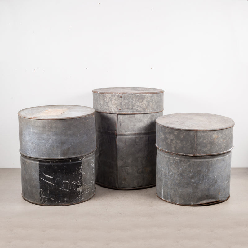 Antique Metal Movie Canisters c.1930