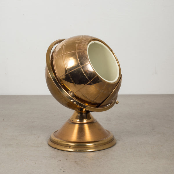 Mid-century Brass Globe Cigarette Holder c.1960