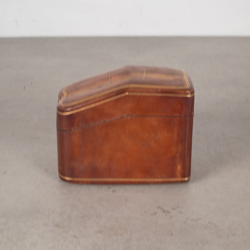Mid-century Italian All Leather Playing Card Holder c.1960