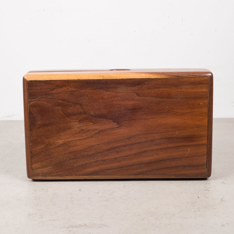 Mid-century Walnut and Cedar Humidor c.1960