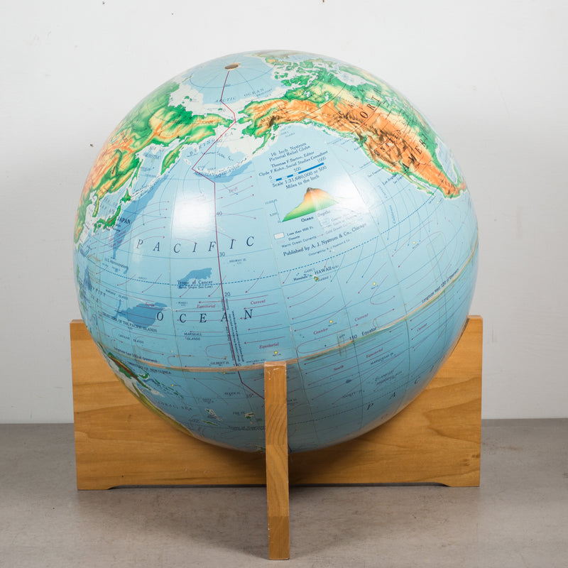 Mid-century Globe on Maple Base c.1960