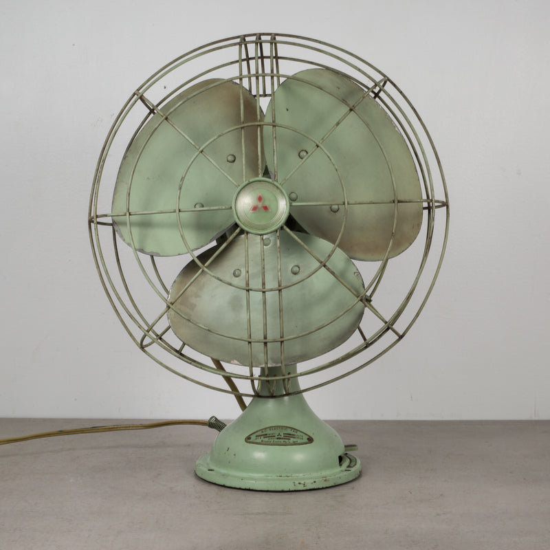 Vintage A.C. Electric Oscillating Fan c.1950
